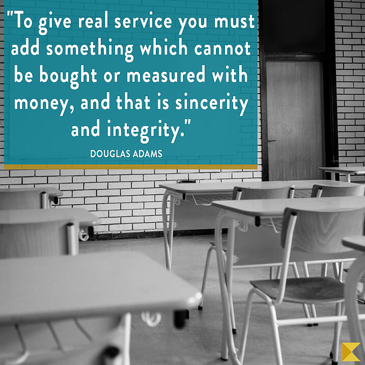 To give real service you must add something which cannot be bought or measured with money