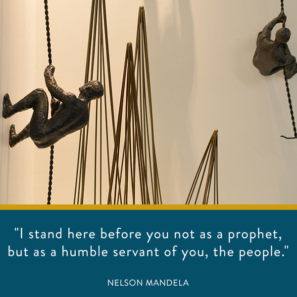 I stand here before you not as a prophet, but as a humble servant of you, the people.