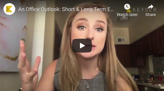 An Office Outlook: Short & Long Term Effects of COVID-19